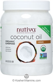 Nutiva Kosher Organic Virgin Coconut Oil 54 OZ