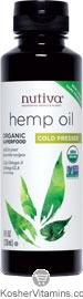 Nutiva Kosher Organic Cold Pressed Hemp Oil 8 OZ