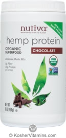 Nutiva Kosher Organic Hemp Shake Chocolate 16 OZ