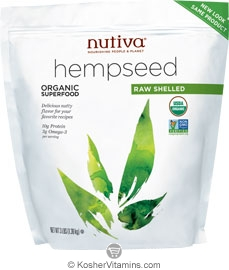 Nutiva Kosher Organic Raw Shelled Hemp Seed 3 LB