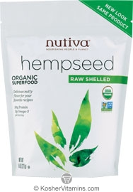Nutiva Kosher Organic Raw Shelled Hemp Seed 8 OZ