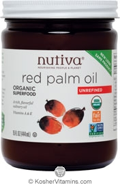 Nutiva Kosher Organic Unrefined Red Palm Oil 15 OZ