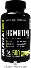NutraBio Kosher Agmatine Sulfate 500 Mg 90 Vegetable Capsules