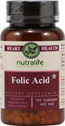 NutraLife Kosher Folic Acid 800 Mcg Chewable Strawberry Flavor 180 Tablets