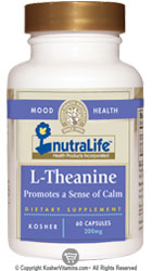 NutraLife Kosher L-Theanine 200 Mg 60 Capsules