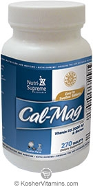 Nutri-Supreme Research Kosher Cal-Mag Calcium, Magnesium with Vitamin D3 & Boron 270 Tablets