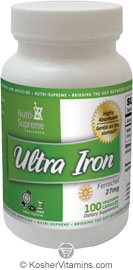 Nutri-Supreme Research Kosher Ultra Iron Ferrochel 27 Mg 100 Vegetarian Capsules