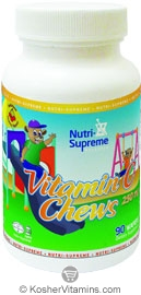 Nutri-Supreme Research Kosher Vitamin C Chews 250 Mg Cherry Flavor 90 Wafers