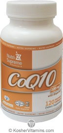Nutri-Supreme Research Kosher Coenzyme Q10 100 Mg 120 Vegetarian Capsules