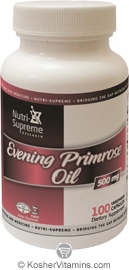 Nutri-Supreme Research Kosher Evening Primrose Oil 500 mg  100 Vegetarian Capsules