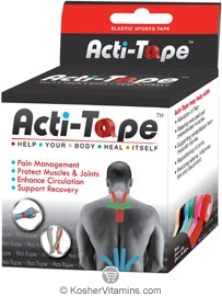 NutriWorks Kosher Kinesiology Acti-Tape Red 1 Roll
