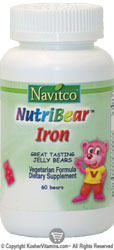 Navitco Kosher NutriBear Iron 5 Mg Chewable Jellies 60 Bears