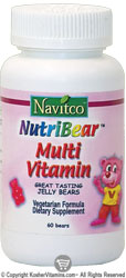 Navitco Kosher NutriBear Multi Vitamin Chewable Jellies 60 Bears