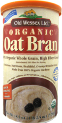 Old Wessex Kosher 100% Natural Oat Bran Organic 18.5 OZ