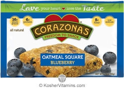 Corazonas Kosher Oatmeal Squares Blueberry Dairy 12 Bars