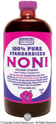 Only Natural Kosher 100% Pure Standardized Noni Juice 32 OZ