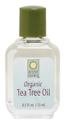 Desert Essence 100% Organic Tea Tree Oil 0.5 OZ