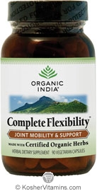 Organic India Kosher Complete Flexibility (Joint Mobility & Support) 90 Vegetarian Capsules
