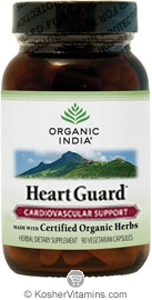 Organic India Kosher Heart Guard (Cardiovascular Support) 90 Vegetarian Capsules