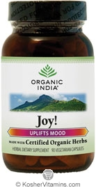 Organic India Kosher Joy! (Uplifts Mood) 90 Vegetarian Capsules