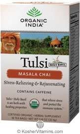 Organic India Kosher Tulsi Chai Masala Pack of 6 18 Tea Bags