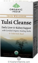 Organic India Kosher True Wellness Tulsi Cleanse Pack of 6 18 Tea Bags