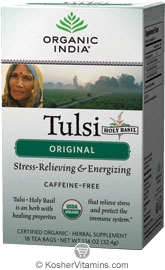 Organic India Kosher Tulsi Original Caffeine Free Pack of 6 18 Tea Bags