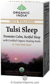 Organic India Kosher True Wellness Tulsi Sleep Pack of 6 18 Tea Bags