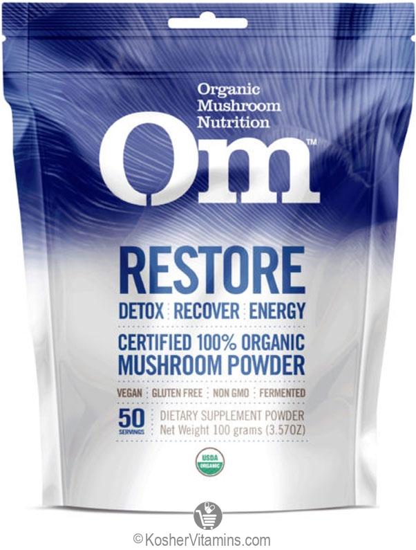 Om Mushroom Nutrition Kosher Organic Restore Mushroom