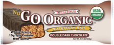 NuGo Nutrition Kosher Organic 10g Protein Bar Double Dark Chocolate Dairy 12 Bars