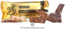 22 Days Nutrition Kosher Organic 20 g Protein Bar PB (Peanut Butter) + Chocolate Chip Nirvana  12 Bars