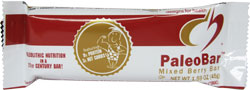 Designs for Health Kosher Paleobar Bar Sugar Free Mixed Berry Bar OU Dairy 18 Bars