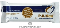 Designs for Health Kosher Peanut Butter Macro-Bar Meal Bar Dairy Case Of 12