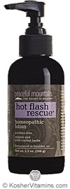 Peaceful Mountain Hot Flash Rescue Homeopathic Lotion 4 OZ