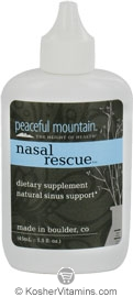 Peaceful Mountain Nasal Rescue Natural Sinus Support 1.5 OZ