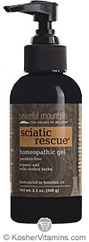 Peaceful Mountain Sciatic Rescue Homeopathic Gel 3.5 OZ