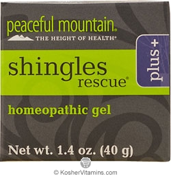 Peaceful Mountain Shingles Rescue Plus Homeopathic Gel 1.4 OZ