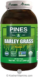 Pines Kosher Organic Barley Grass Powder 10 OZ