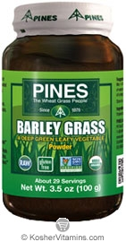 Pines Kosher Organic Barley Grass Powder 3.5 OZ