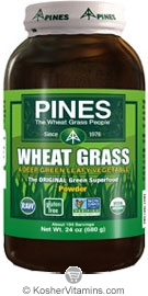 Pines Kosher Organic Wheat Grass Powder 24 OZ
