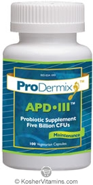 ProDermix Kosher APD III Probiotic Supplement 5 Billion CFUs Maintenance 100 Vegetarian Capsules