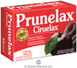 Prunelax Kosher Gentle Laxative 60 Tablets