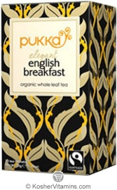 Pukka Kosher Organic Elegant English Breakfast Tea 20 Sachets
