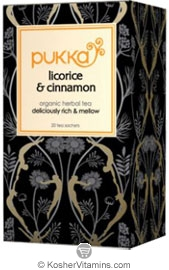 Pukka Kosher Organic Licorice and Cinnamon Tea 20 Sachets