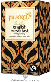 Pukka Kosher Organic Lively English Breakfast Tea 20 Sachets