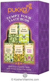 Pukka Kosher Organic Tempt Your Taste Buds Selection Pack 20 Sachets