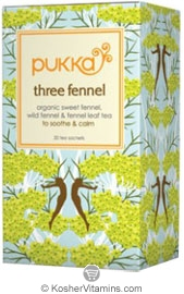 Pukka Kosher Organic Three Fennel Tea 20 Sachets
