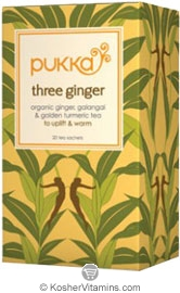 Pukka Kosher Organic Three Ginger Tea 20 Sachets