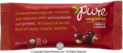 Pure Bar Kosher Pure Organic Raw Bar Cherry Cashew Dairy 12 Bars