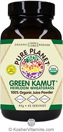 Pure Planet Kosher Organic Green Kamut Powder Heirloom Wheatgrass 45 Grams
